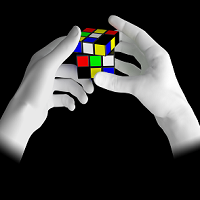 3D Fingers with rubik's cube